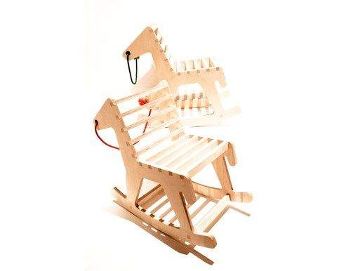 UK-based designer Polly Westergaard's Horse Rocker playfully combines a rocking horse with the traditional rocking chair. £120 ($192).