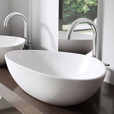 Keramik Waschschale Wandmontage Waschbecken Waschtisch 67x44x15 cm - küche waschbecken keramik