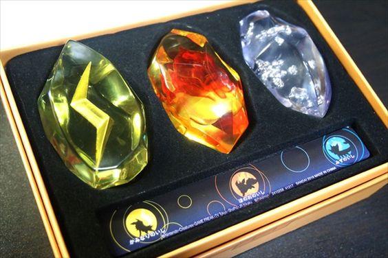 Pokemon Evolution Stone Candy Box Set Fire Water Lightning Premium Bandai New Bandai