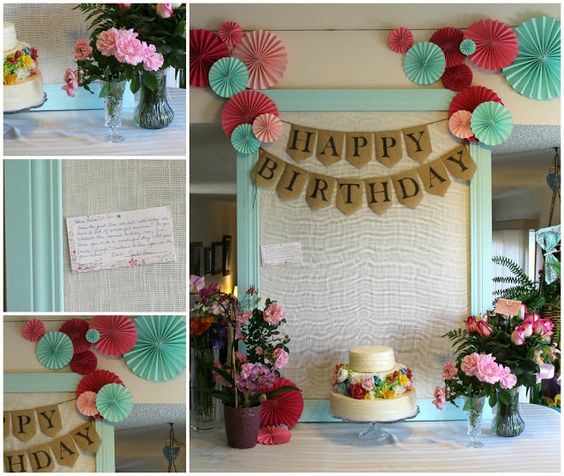 paper cakes birthday parties life birthday party decorations cake ...