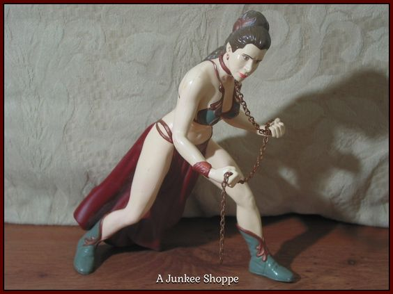 "PRINCESS LEIA Slave Chained Star Wars 1998 Applause 7 1/2"" Vinyl Figure Loose  P733  http://ajunkeeshoppe.blogspot.com/"
