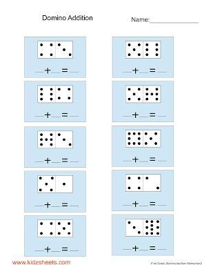 First Grade Domino Addition   matekos kicsiknek   Pinterest   First ...