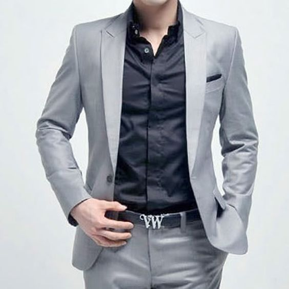 Details about New Mens Fashion Stylish Slim Fit One Button Suit