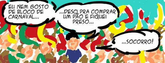RABISCOS ENQUADRADOS: QUADRINHO CASUAL EM RITMO DE CARNAVAL (RIMOU):
