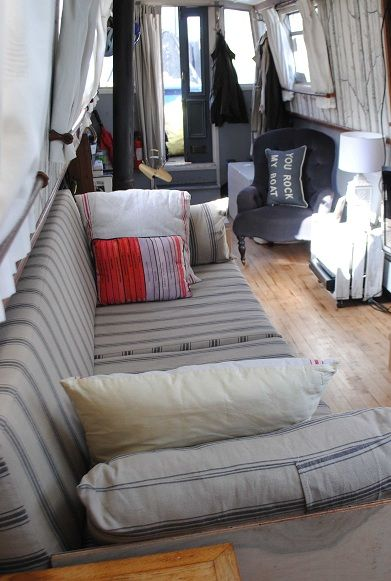 contemporary interior design narrowboat houseboat