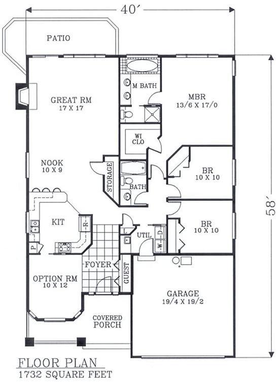 Image Result For 3 Bedroom House Plans 1200 Sq Ft Planos De