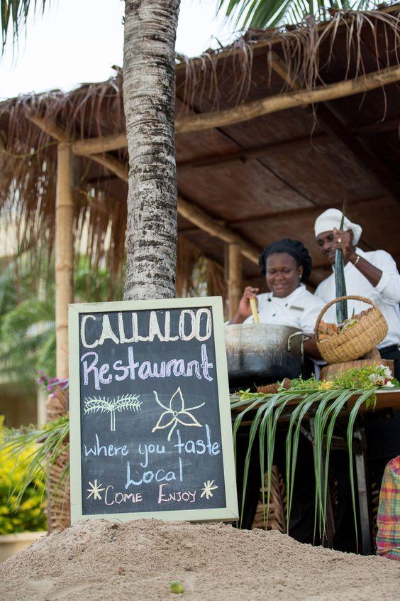 Callaloo Restaurant - local Caribbean ingredients