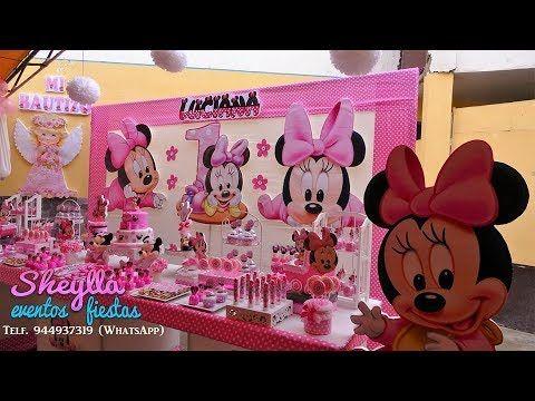 Minnie Bebe Decoración Temática De Fiesta Infantil Cumpleaños De Niña Youtube