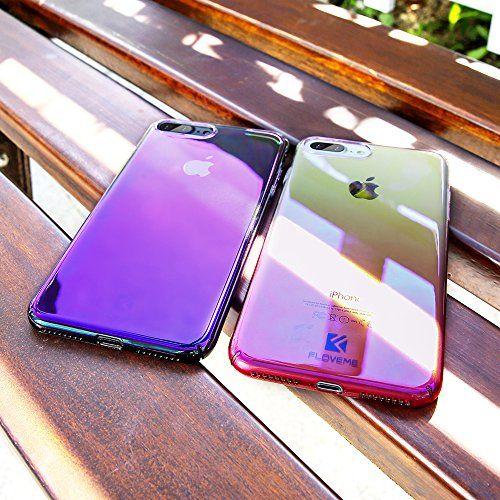Floveme Iphone 8 Plus 7 Plus Case Luxury Slim Fit Gradual Colorful Gradient Change Color Ultra Thin Lightweight E Iphone Aesthetic Phone Case Cute Phone Cases