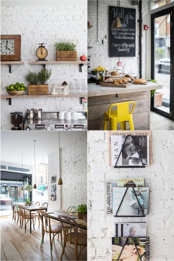 5 hallys london cafeter a con encanto madera natural for Decoracion de comida