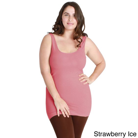 Nikibiki Women's Plus-size Seamless Colors Long Camisole Top