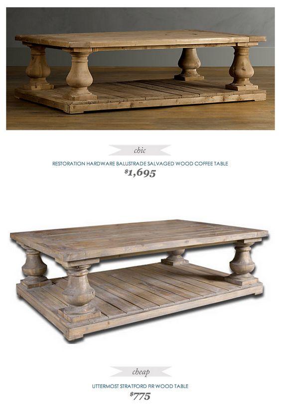 copycatchicfind #restorationhardware balustrade salvaged wood