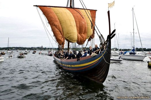 A recreation of a Viking ship of this period which was uncovered on England's west coast, in Liverpool on the Wirral peninsula in 2007