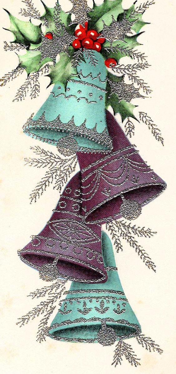 #Christmas #vintage #1960's #bells: