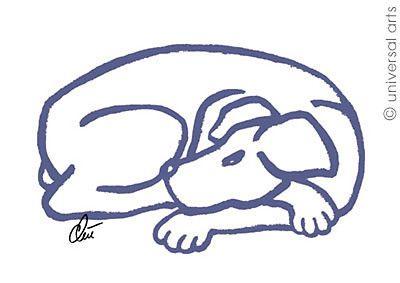 "Jacqueline Ditt - ""Dog-Blue"" 2011 original graphic   - http://stores.ebay.de/universal-arts  and www.universal-arts.de"