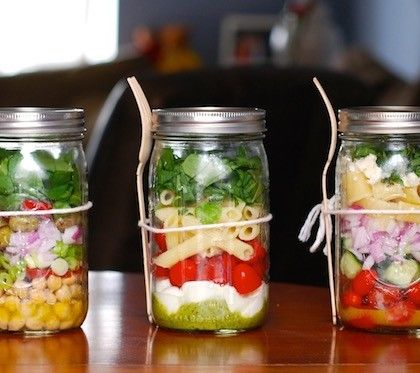 salade jar la salade en bocal le ph nom ne food emporter salades pinterest pots et. Black Bedroom Furniture Sets. Home Design Ideas