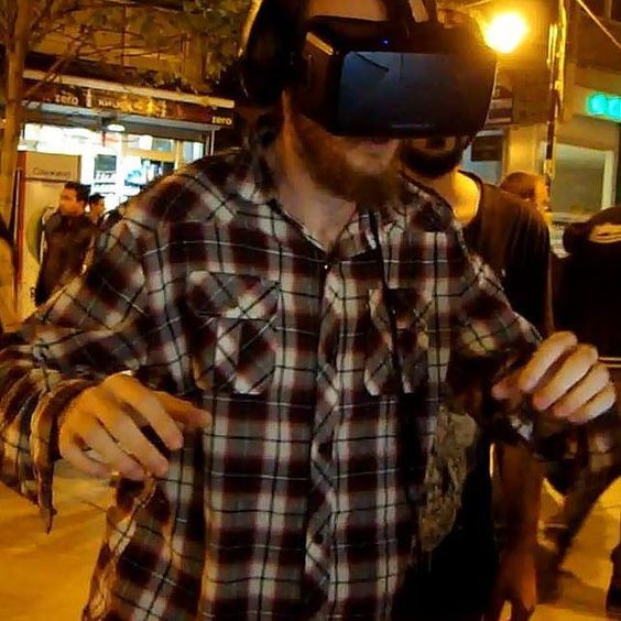 An awesome Virtual Reality pic! playing a virtual reality video game #virtualreality #videogame #nofilter by mr.bridgeford check us out: http://bit.ly/1KyLetq