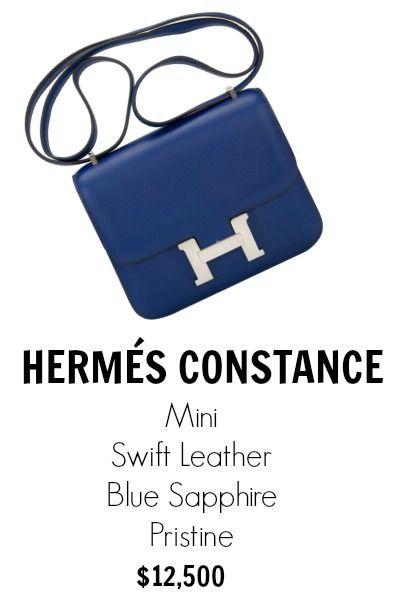 hermes messenger bag - hermes blue sapphire swift mini constance 18cm, hermes tote