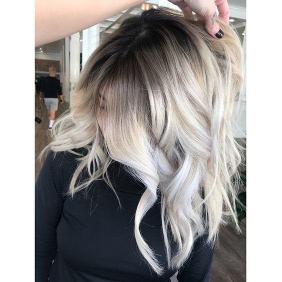 10 Icy Blonde Hair With Dark Roots Colour Ideas Hair Styles Dark Roots Blonde Hair Icy Blonde Hair