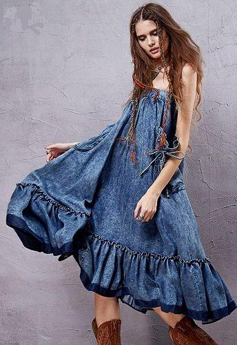 Женское джинсовое платье сарафан выкройка