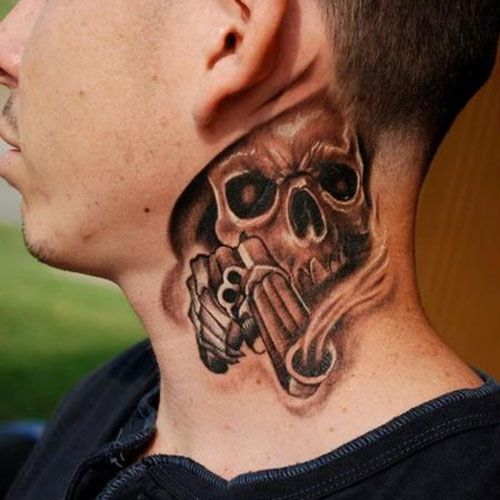 Skull Neck Tattoo Designs Best Neck Tattoos For Men Cool Neck Tattoo Designs And Ideas Badass Full Neck Tattoo For Guys Best Neck Tattoos Tattoos For Guys