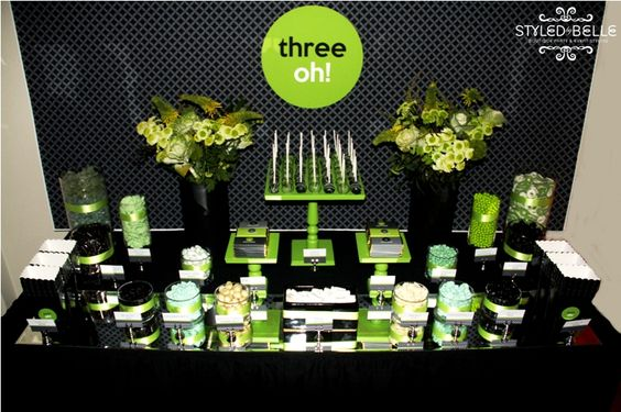 Green and Black Party Display