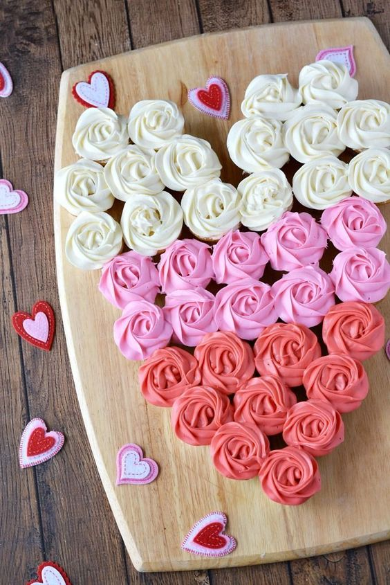 Valentine Cupcake Heart Recipe. What a fun Valentine's Day treat!:
