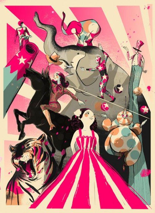 circus artwork/card