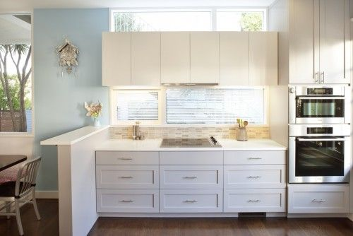 picture window about cabinets