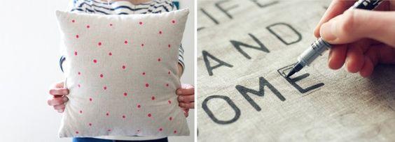 stencilled-cushion-DIY image