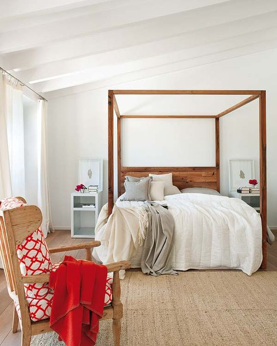 wooden four poster