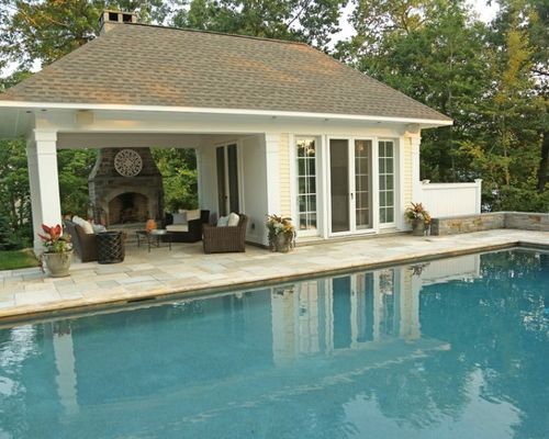 61 Easy Pool House Decorating Ideas With Images Pool Houses Small Pool Houses Pool House Shed