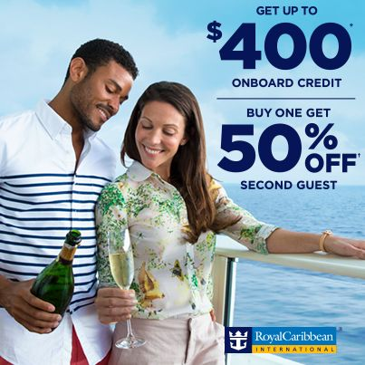 Waiting for the best deals to cruise? There's no need to wait, because you can save whether you sail now or later. Get up to $400 in onboard credit when you book a cruise departing in 2014. Or get a discount of 50% on your guest's fare when you book a 2015 or 2016 sailing. Either way, you save big. Call me today for more info! 715-234-2174