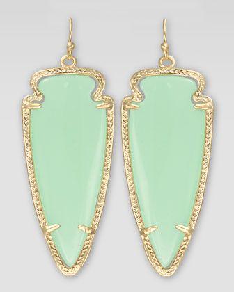 Kendra Scott Skylar Arrow Earrings, Chalcedony