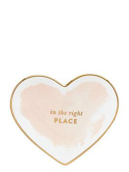 Kate Spade | posy court small heart dish, blush