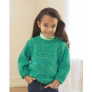 Free Knitting Patterns For Children s Pullovers : Mary Maxim - Free Childs Easy Pullover Knit Pattern - Free Patterns - Pa...