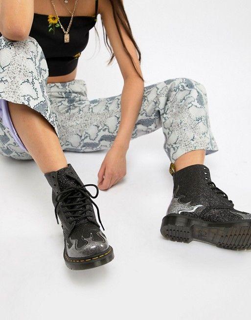 dr martin glitter boots