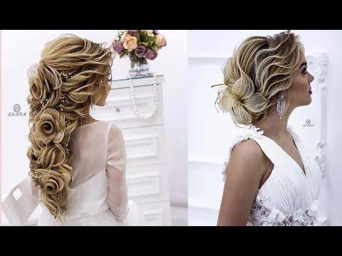 She Creates Fabulous Bridal Hairstyles Youtube Wedding Hair Down Wedding Hairstyles For Long Hair Long Hair Wedding Styles