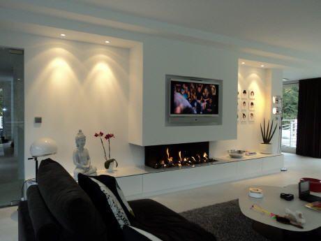 tv en open haard in woonkamer - Google zoeken