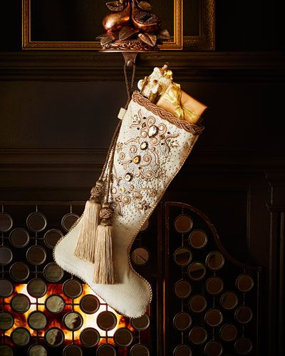 Palazza Christmas Stocking by Jay Strongwater at Horchow. Description from pinterest.com. I searched for this on bing.com/images