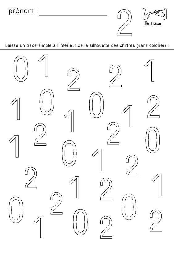 Apprendre tracer les chiffres 0 1 et 2 kids cahier d for Apprendre les livrets