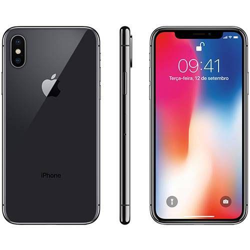 Iphone X Cinza Espacial 64gb Tela 5 8 Ios 11 4g Wi Fi Camera 12mp Apple R 5669 19 Iphone Samsung Phone