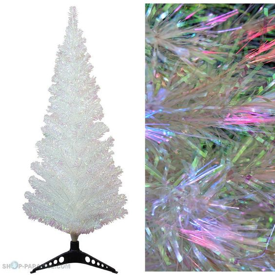 Weihnachtsbaum LED Glasfaser künstlicher Tannenbaum Christbaum weiss Farbwechsel