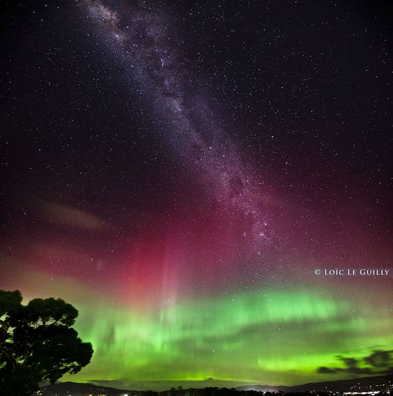 aurora australis in Hobart on July 15, 2012.