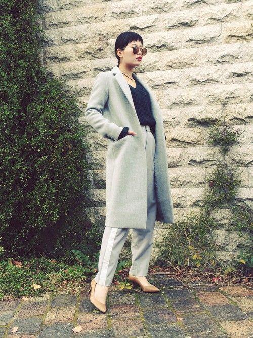 TAEさんのチェスターコート「UNITED TOKYO チェスターコート」を使ったコーディネート
