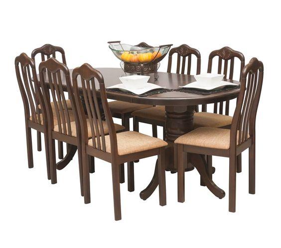 Commodity juego de comedor wellington madera mesas for Juego comedor madera 6 sillas
