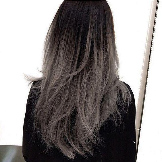 Coupe Chvx, 2015 Cheveux, Coloration Cheveux, Tresses Wishes, Coiffure, Teinture, Acheter, Dark Hair Ombre Balayage, Sombre Couleur Des Cheveux Gris