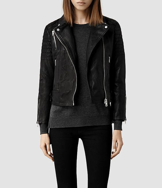 AllSaints Papin Leather Biker JacketI want this but CAN NOT