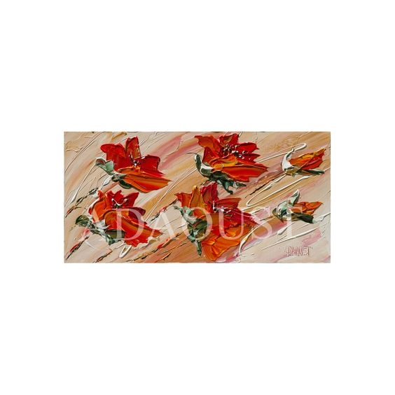 coquelicots oranges peinture originale de l 39 artiste peintre sylvie adaoust mod les tableaux. Black Bedroom Furniture Sets. Home Design Ideas
