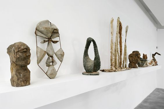 Goshka Macuga, When was Modernism? (detail), installation view at Rivington Place, 2008, mixed media, Photo: Thierry Bal